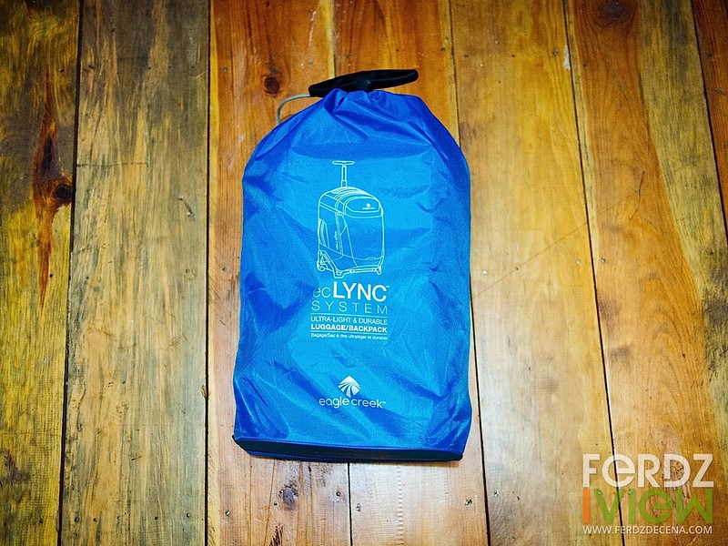 The EC Lync bag stuffed in its sac for storage