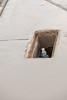 Water meter in new cement