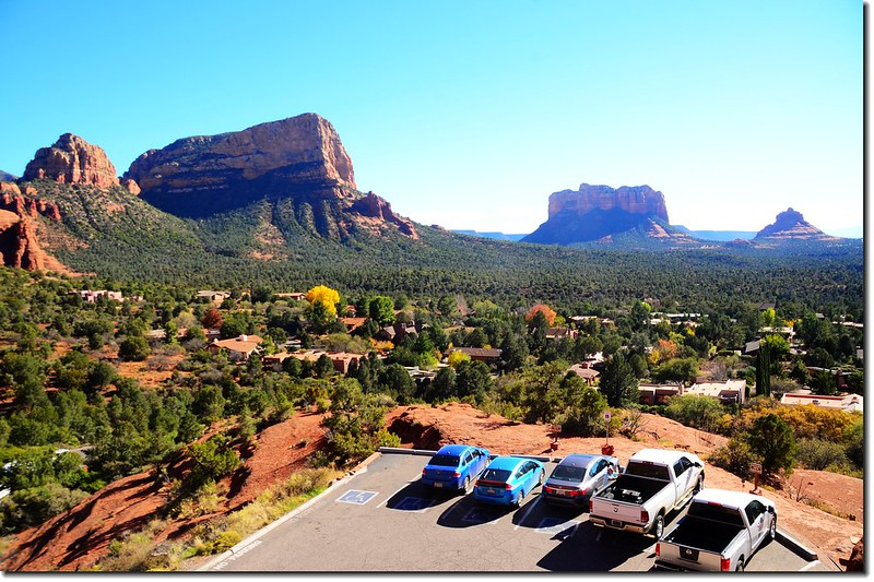 Overlooking south onto Bell Rock & Courthouse Butte from The Chapel of the Holy Cross