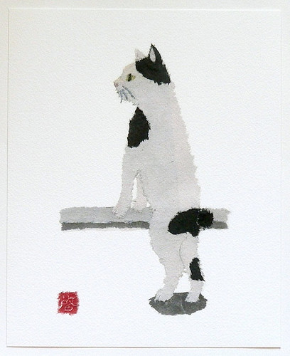 Pet Portrait Paper Collage - Japanese Bobtail
