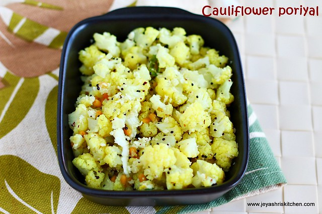 cauliflower- poriyal