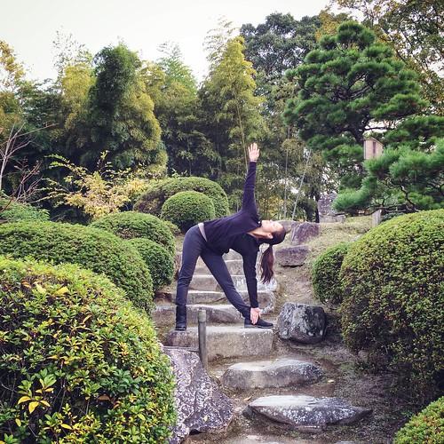 Trikonasana, Shukkeien Garden