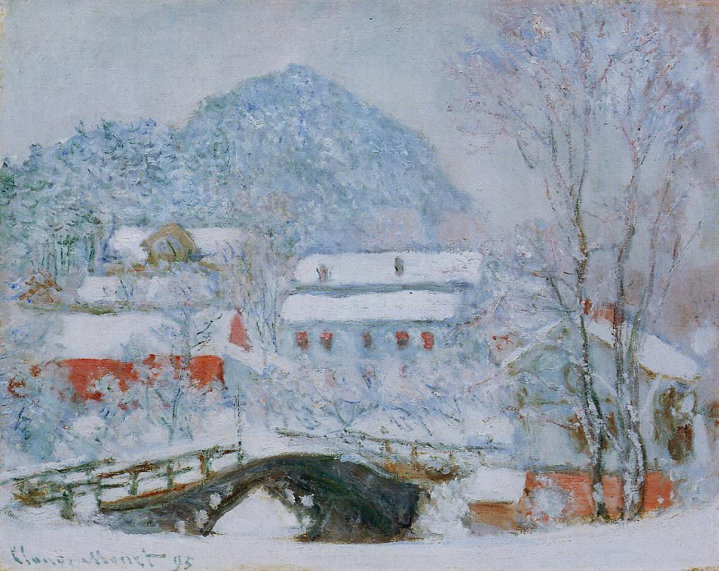 Sandviken Village in the Snow by Claude Oscar Monet - 1895
