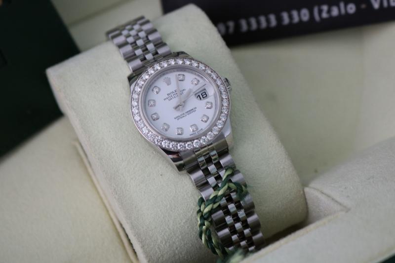 Bán đồng hồ rolex datejust Nữ 6 số 179174 – Inox – Hạt Xoàn – Size 26mm
