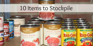 10 Items to Stockpile in a Pantry