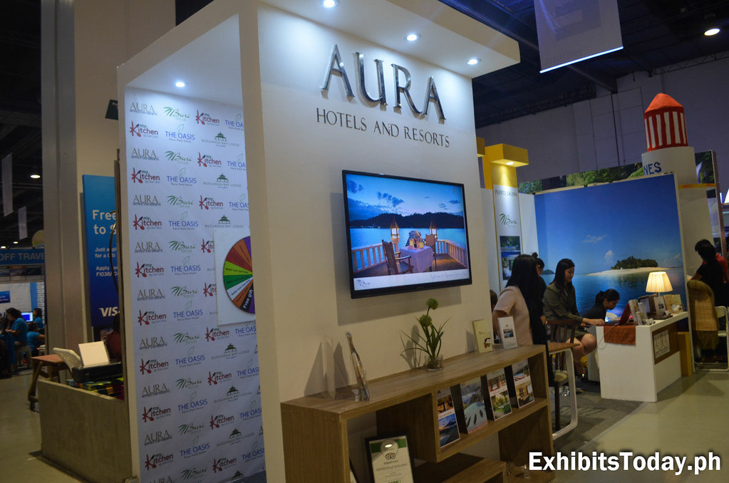 Aura Hotels and Resorts Exhibit Booth (side view)
