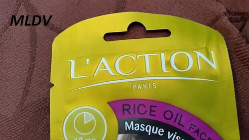 Masque visage à l'huile de Riz - L'ACTION
