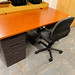 1600x800 straight desk and pedestal