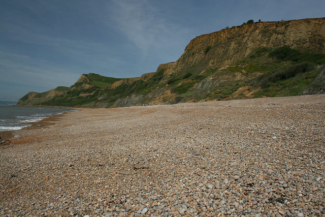 The beach at Eype Mouth