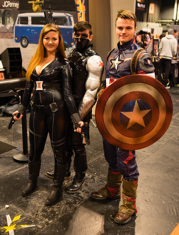 Black Widow, Winter Soldier and Captain America
