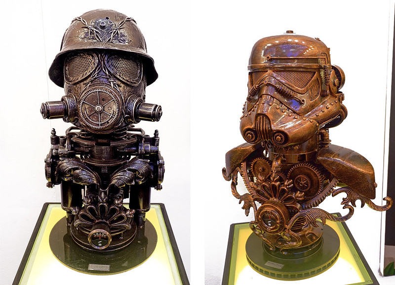 Manilart 2015 Holo Ghost and Steamtrooper 5 both by Ram Mallari (Showcased by 371 Art Space)