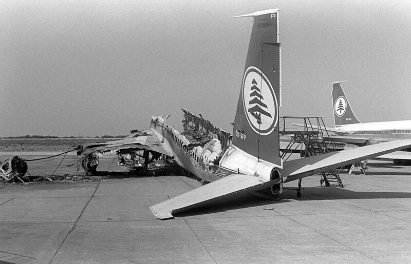 Middle East Airlines Boeing destroyed during Operation Peace for Galilee during 1982 Lebanon War