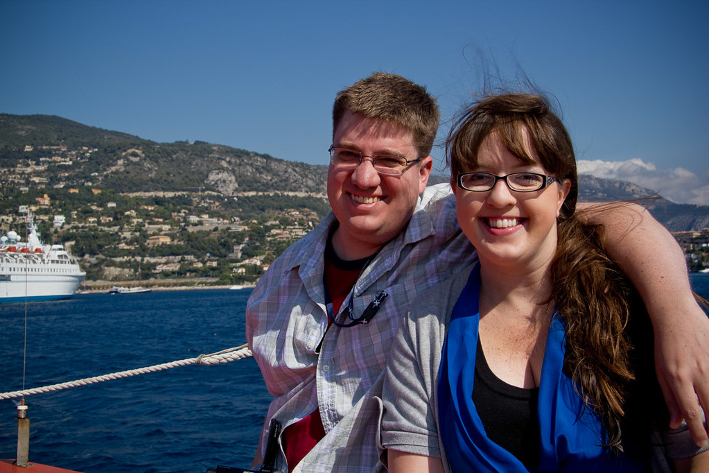 Ken and I on in Villefranche
