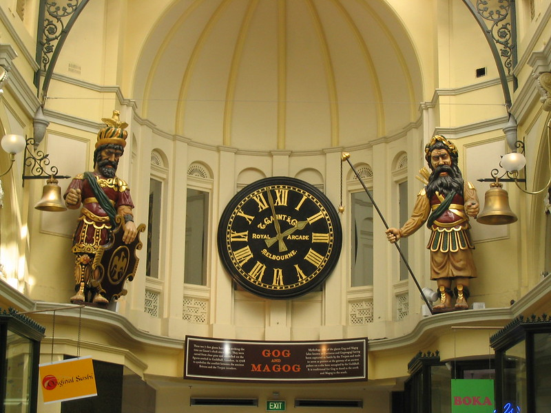 Gog and Magog, Royal Arcade, Melbourne (2005)
