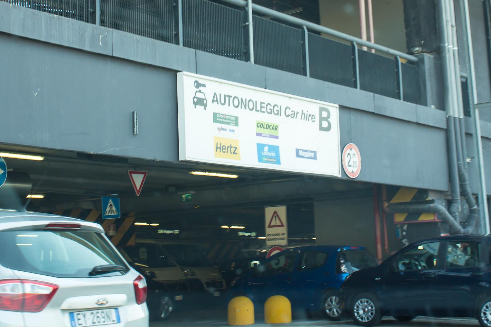 Вот и заветный въезд в паркинг
