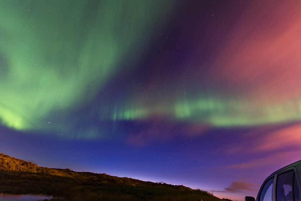 Northenlights, Aurora Borealis in Iceland