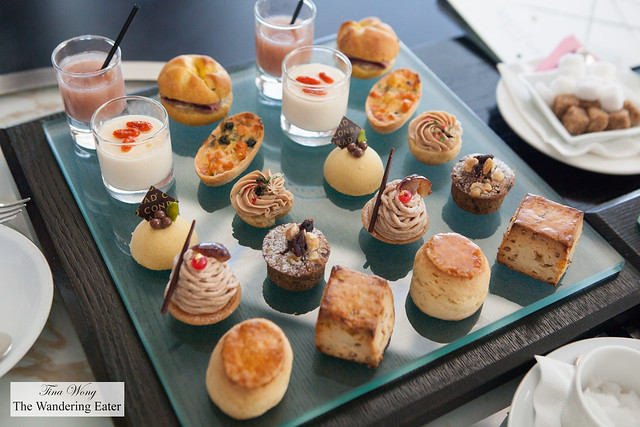 Afternoon tea pastries and bites