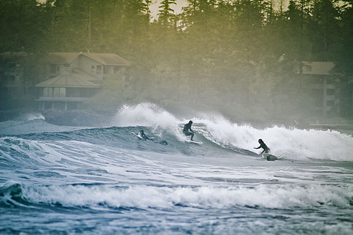Winter Surfing in Tofino, West Coast Vancouver Island, British Columbia
