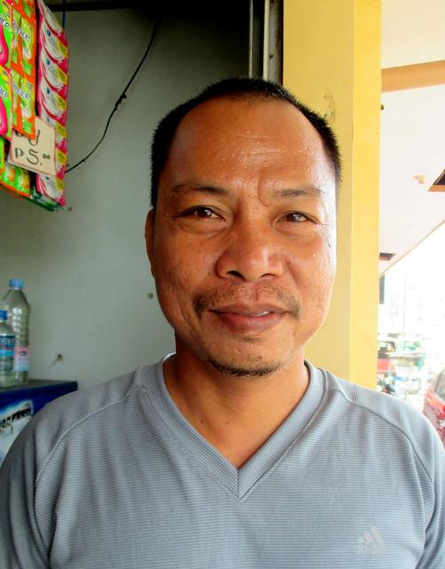 Palompon public market vendor Michael S. Pasana