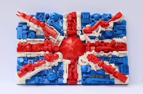 Greebled LEGO Union Jack