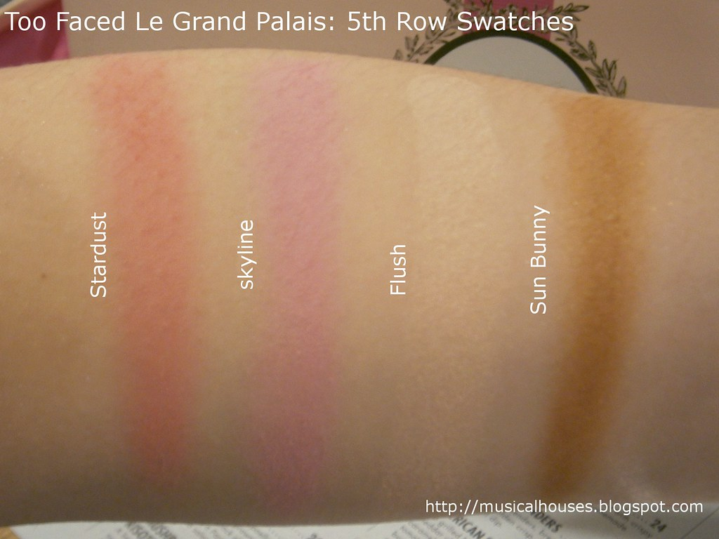 Too Faced Le Grand Palais Swatches Blush Bronzer Highlighter