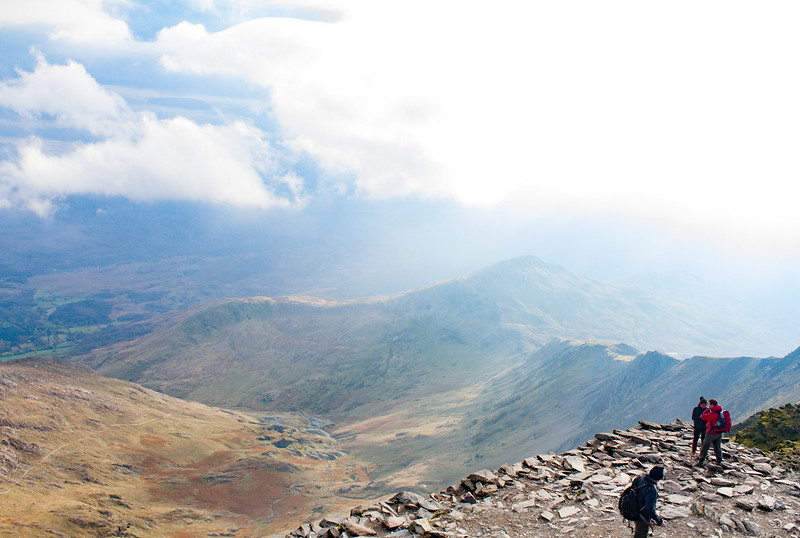 View from the top of Mount Snowdon