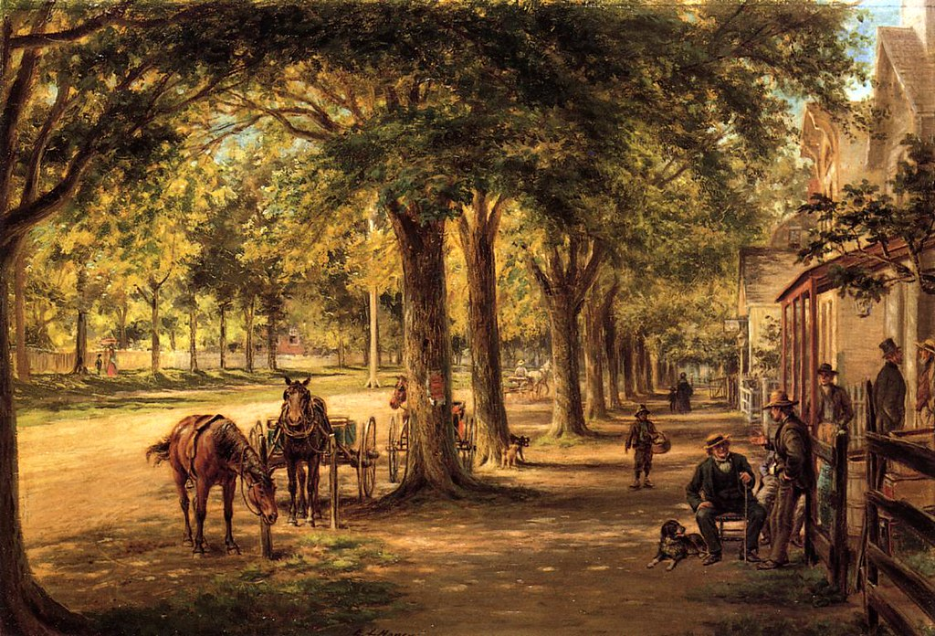 The Village Street by Edward Lamson Henry