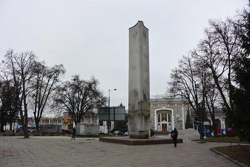 З площі забрали радянських солдатів