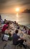 Arpoador Sunset Crowds by Luke Robinson