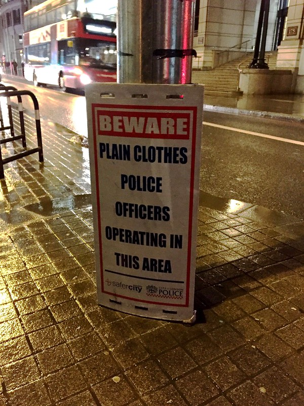 Beware, plain clothes police officers operating in this area