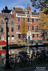 Bikes and Medieval Canal Houses, Kloveniersburgwal, Amsterdam