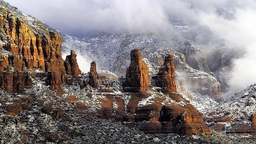 Snowing in Sedona