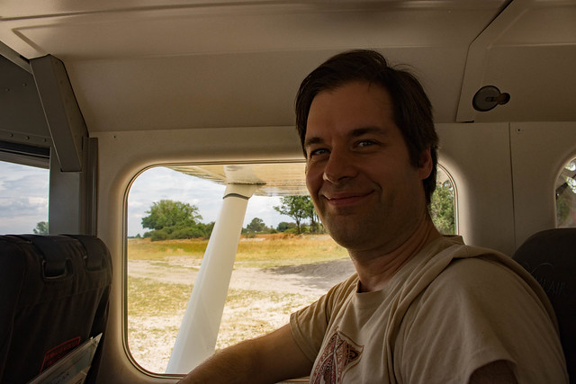 Andrew in the plane