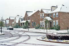 Neighborhood in Snowstorm, North Richland Hills, 2008