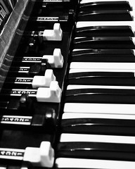Hammond B3 in Black and White A classic organ at our friend's recording studio. Somehow black and white seemed appropriate for this, highlighting both the keys and the draw bars. #music #instrument #hammond #hammondorgan #hammondb3 #keyboard #organ #black
