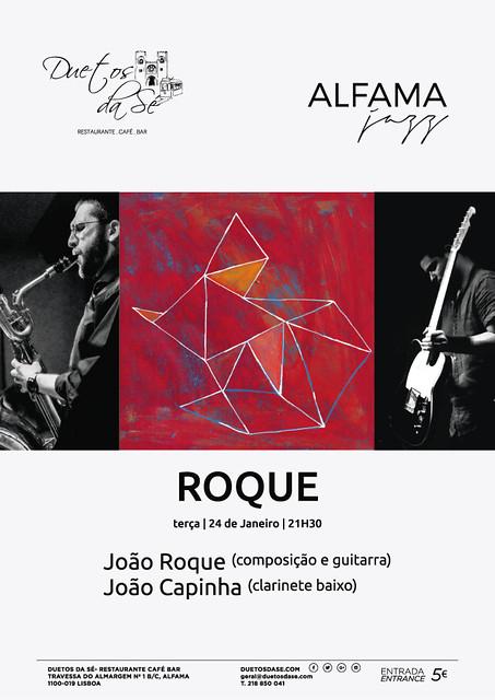 CONCERTO ALFAMA JAZZ Duetos da Sé - TERÇA-FEIRA 24 JANEIRO 2017 - 21h30 - ROQUE - João Roque & João Capinha