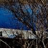 La barque au Marais Léon-Provencher aménagé par Canards Illimités dont Ginette, ma compagne fait partie du CA...!!!