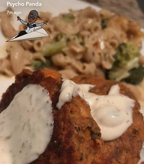 Homemade TarTar ~ Baked Salmon Cakes ~ Mac & Cheese Broccoli Bake ...:heart::panda_face::registered: #chef #swag #foodnetwork #cooking #lovewhatyoueat #illest #igdaily #eatwell #ThankTheMostHigh #SaveThePandas