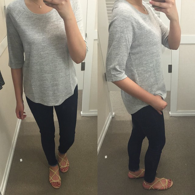 LOFT 3/4 Sleeve Sweater Tee, size XS regular