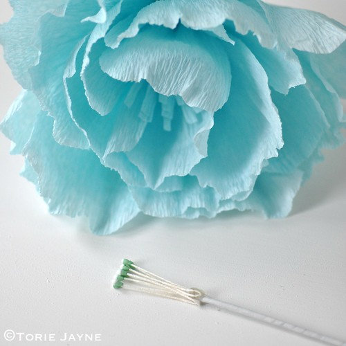 Crepe paper flower tutorial 17