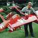 Maynard Hill in August 2000. Three years later he made history in guiding one of his model planes across the Atlantic.