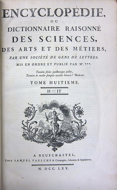 diderot title page vol. 8