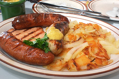 German Combo with Polish Sausage, Bratwurst, Knack…