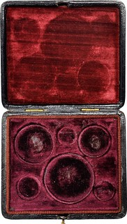 1859 Proof set case inside