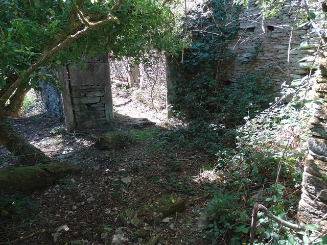 Aldea abandonada de Grobas en Forcarei
