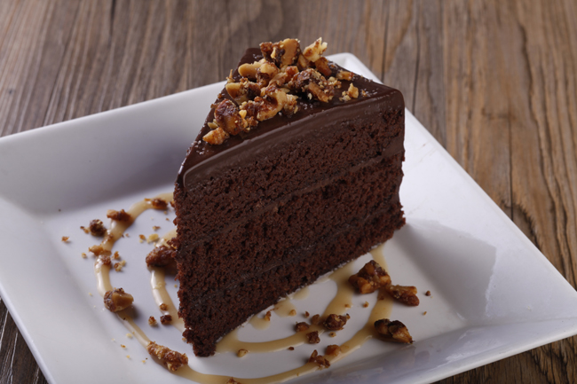 Salted Chocolate Cake with Caramel Sauce