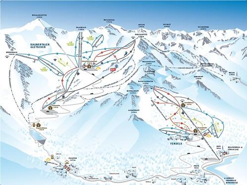 Fendels - mapa sjezdovek