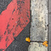 Asphalt art series - red-white by Jürgen Kornstaedt
