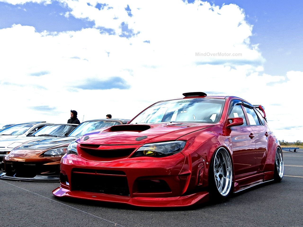 First Class Fitment GD Subaru WRX STI Wagon Red