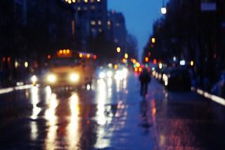rainy evening Manhattan